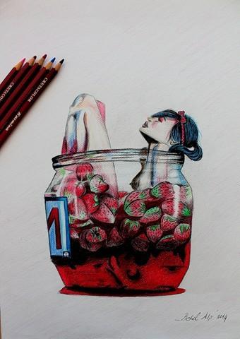 Colour Soft Kuru Kalem Çalışmalar